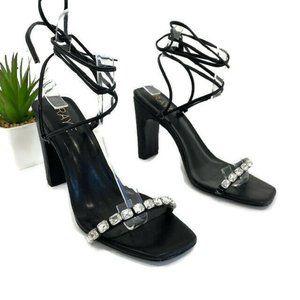 Raye Twinkle Strappy Heel in BlackSz 7